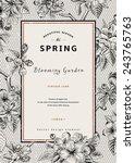 vintage vertical spring card.... | Shutterstock .eps vector #243765763