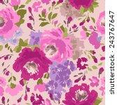 beautiful vintage seamless... | Shutterstock .eps vector #243767647