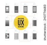 wireframe ux kit for mobile... | Shutterstock .eps vector #243776683