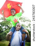 african family happiness... | Shutterstock . vector #243783307
