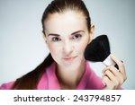 beauty fresh model girl... | Shutterstock . vector #243794857