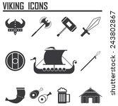 Постер, плакат: Vikings and Scandinavian items