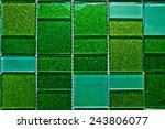 Green Metallic Mosaic Tile
