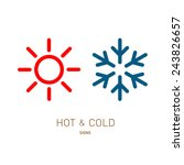 hot and cold sun and snowflake... | Shutterstock .eps vector #243826657