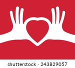 puzzle in the shape of heart in ... | Shutterstock .eps vector #243829057
