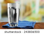 Glass Of Ice Water With Napkin...