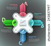 modern infographic option... | Shutterstock .eps vector #243837997