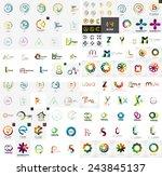logo mega collection  abstract... | Shutterstock .eps vector #243845137