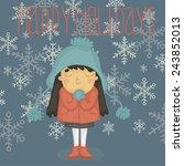 christmas vector illustration... | Shutterstock .eps vector #243852013