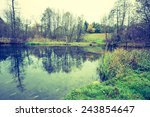 vintage photo of river in... | Shutterstock . vector #243854647