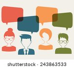 people icons with chat speech... | Shutterstock .eps vector #243863533