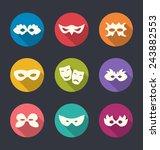 illustration set flat icons of...   Shutterstock .eps vector #243882553