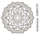 Ethnic Fractal Mandala Vector...