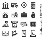 Banking Icons    Black