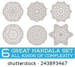 set of ethnic fractal mandala... | Shutterstock .eps vector #243893467