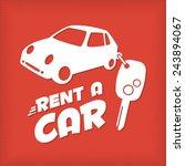 rent a car design template | Shutterstock .eps vector #243894067