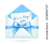 blue baby shower vector envelop ... | Shutterstock .eps vector #243896737