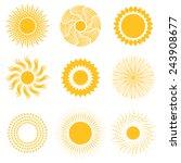 Vector Sun Icon Set