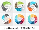 vector circle infographic.... | Shutterstock .eps vector #243909163