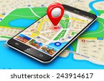 gps satellite navigation ...   Shutterstock . vector #243914617