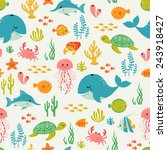 Cute Underwater Pattern On...