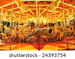 Colorful Carousel With Lights...