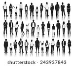 silhouettes group of people in... | Shutterstock .eps vector #243937843
