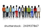 silhouettes of casual people in ... | Shutterstock .eps vector #243937867