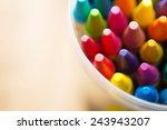 crayons shot form above with.... | Shutterstock . vector #243943207