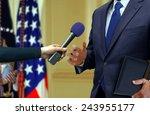 press interview   Shutterstock . vector #243955177