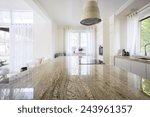 granite worktop inside white... | Shutterstock . vector #243961357