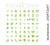 ecology icons | Shutterstock .eps vector #243972697