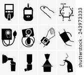glucometer  tonometer  inhaler | Shutterstock .eps vector #243973333