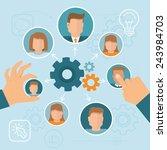 vector human resource... | Shutterstock .eps vector #243984703