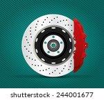 car part   brake | Shutterstock .eps vector #244001677