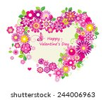 valentines day card  with ...   Shutterstock .eps vector #244006963