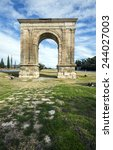 triumphal arch of bara in... | Shutterstock . vector #244027003