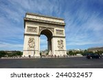 arc de triomphe          | Shutterstock . vector #244032457