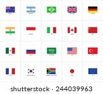 flags of the world | Shutterstock .eps vector #244039963