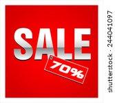 sale percent | Shutterstock .eps vector #244041097