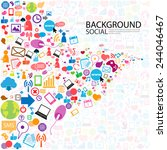 social network background with... | Shutterstock .eps vector #244046467