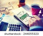 digital online vision... | Shutterstock . vector #244055323