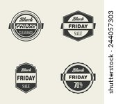 black friday icons on a white... | Shutterstock .eps vector #244057303