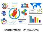 new business chart innovation... | Shutterstock . vector #244060993