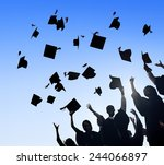 celebration education... | Shutterstock . vector #244066897