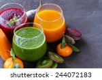 assorted fresh juices from... | Shutterstock . vector #244072183