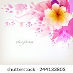 elegant watercolor vector... | Shutterstock .eps vector #244133803