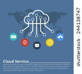 clouds for social networks.... | Shutterstock .eps vector #244138747