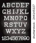white vintage font written... | Shutterstock .eps vector #244145227