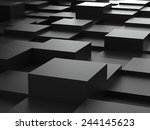 abstract background of black 3d ... | Shutterstock . vector #244145623